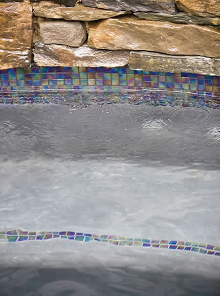 Hermosa Beach Lap Pool with Spa Rock Features Custom Tile 3