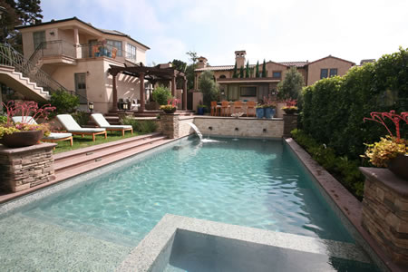 Manhattan Beach Pool with Water Feature Outdoor Kitchen &    Patio 2