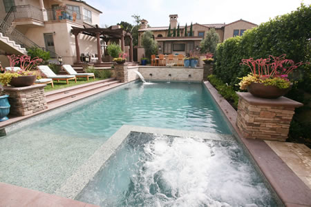 Manhattan Beach Pool with Water Feature Outdoor Kitchen &    Patio 3