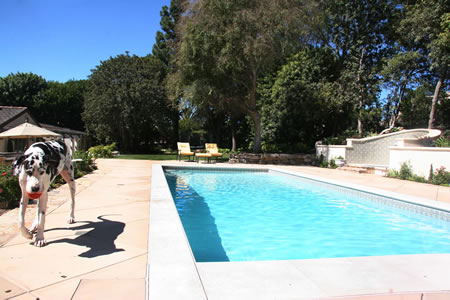 Palos Verdes Estates Pool Water Fountian Outdoor Fireplace 1