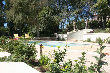 Palos Verdes Estates Pool Water Fountian Outdoor Fireplace 4