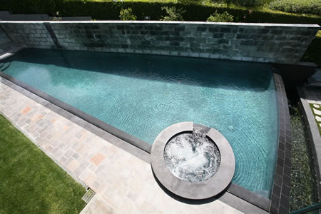 Palos Verdes Estates Vanishing Edge Pool with Spa 2