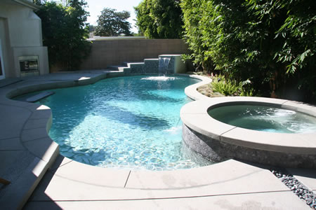 Redondo Beach Pool with Spa & Water Feature 1