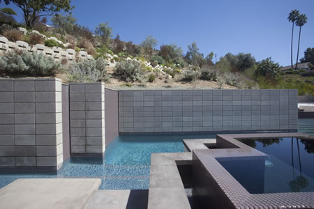 Rolling Hills Negative Edge Pool with Elevated Spa 1